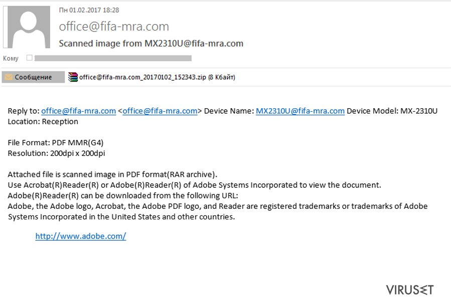 Malicious spam targeting FIFA fans