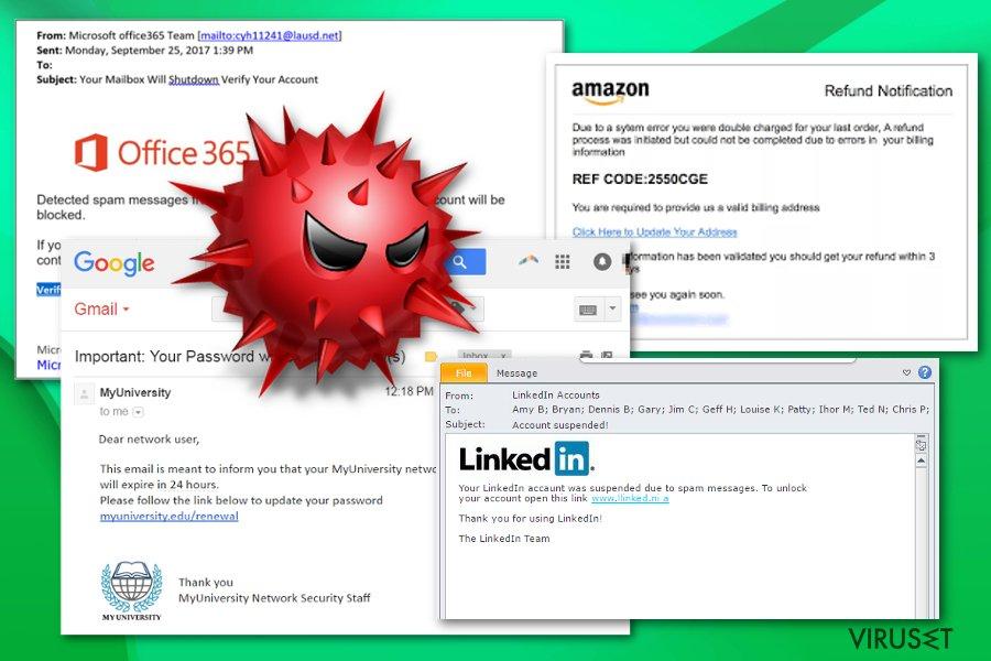Remote access trojans spread via email