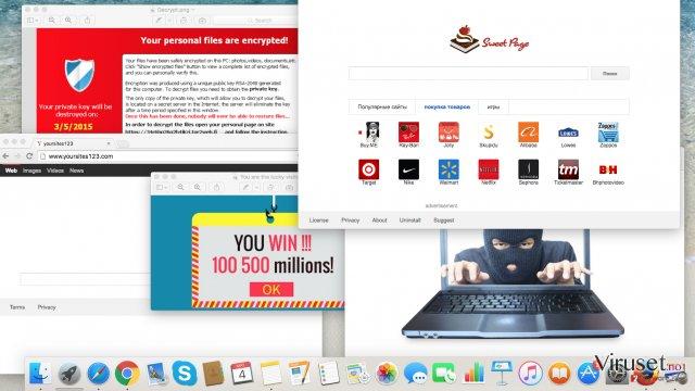 Nettrusler du bør passe deg for i år: adware, nettleserkaprere og ransomware-virus skjermbilde