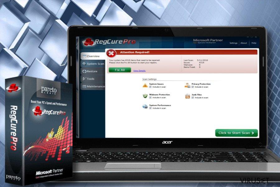 RegCure Pro skjermbilde