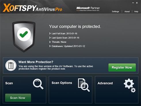 XoftSpySE Anti Spyware skjermbilde