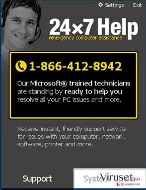 24x7 Help skjermbilde