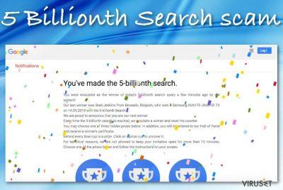 5 Billionth Search-svindel