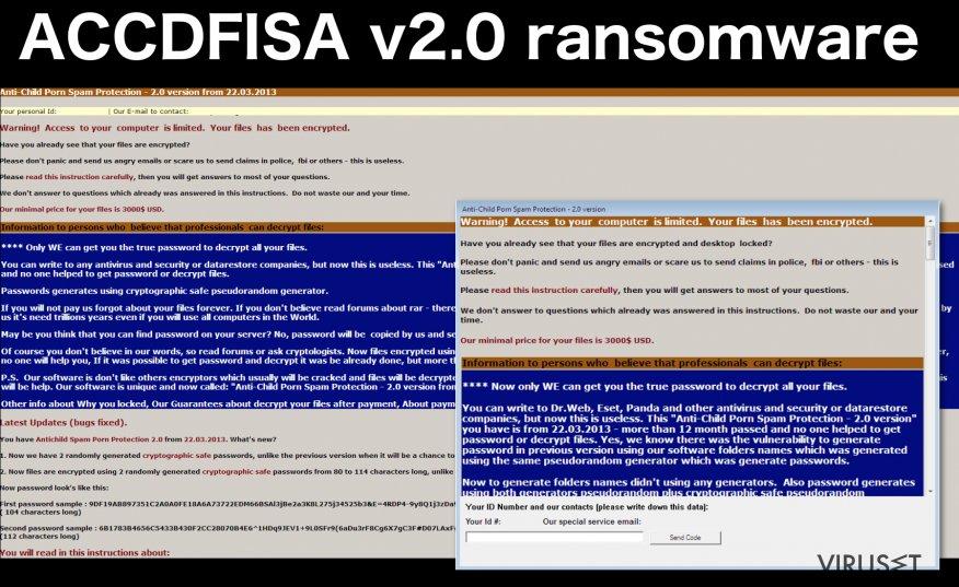 ACCDFISA v2.0 ransomware-virus