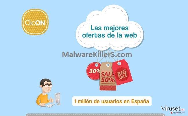 Annonser fra Clicon skjermbilde