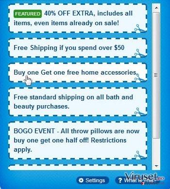 Annonser fra CouponsMachine skjermbilde