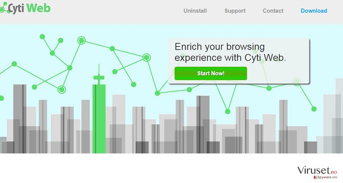 Annonser fra Cyti Web skjermbilde