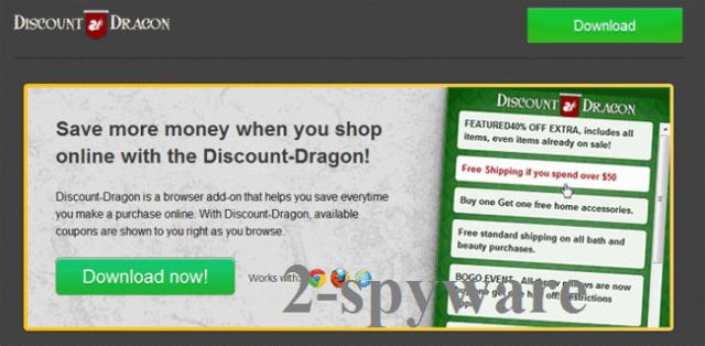 'Ads by Discount Dragon' virus skjermbilde