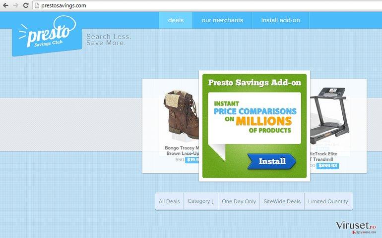 Annonser fra PrestoSavings skjermbilde