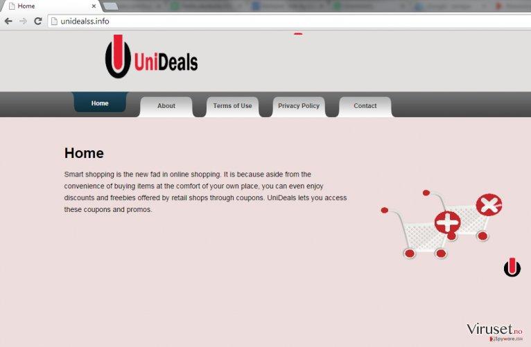 Annonser fra UniDeals skjermbilde