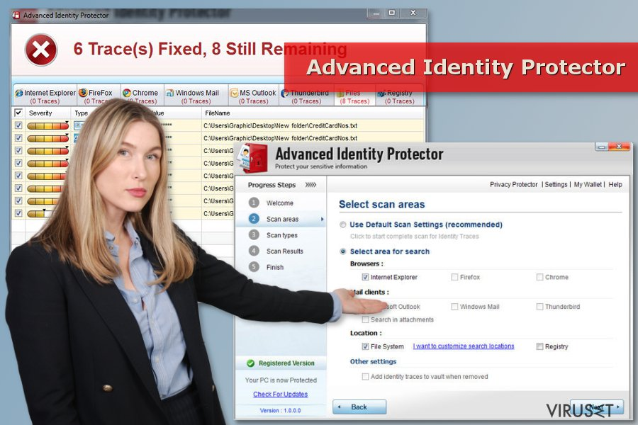 Advanced Identity Protector-skann