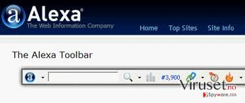 Alexa Toolbar skjermbilde