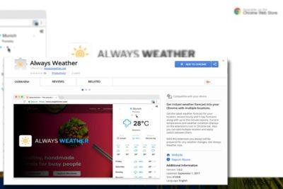 Bilde som viser programtillegget Always Weather