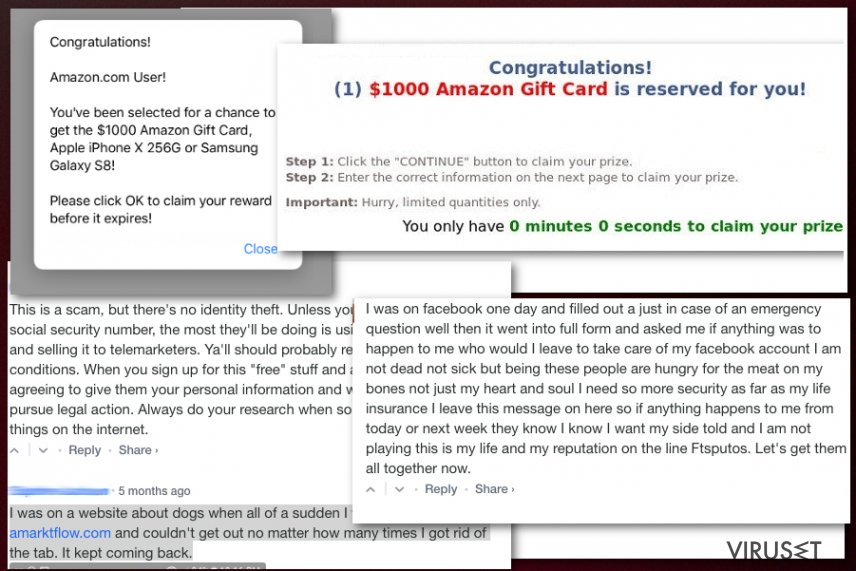 Amarktflow falsk belønningskampanje