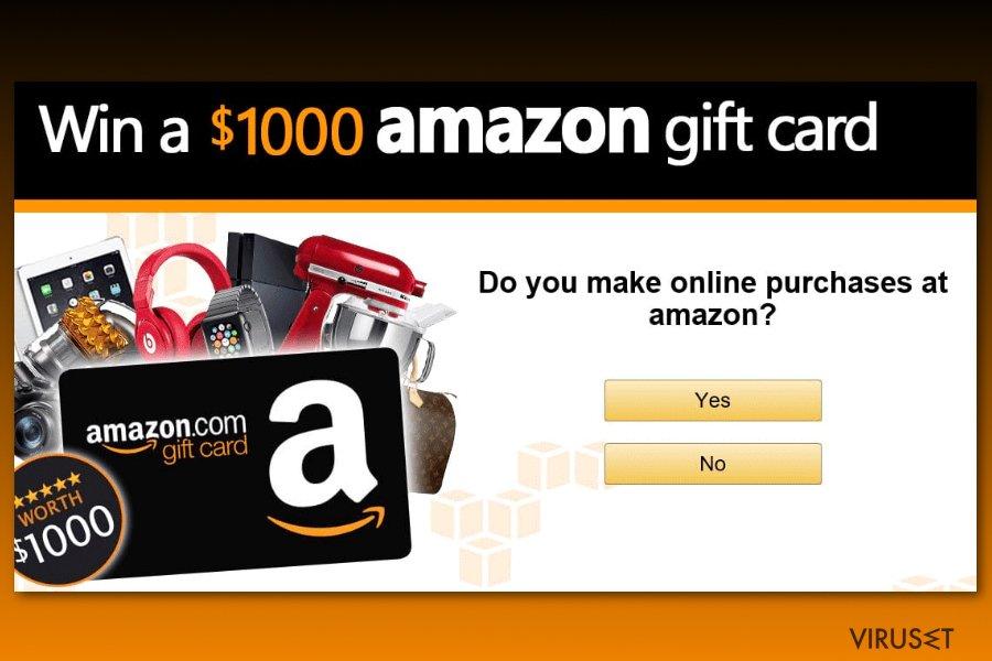Eksempel på Amazon gavekortundersøkelse