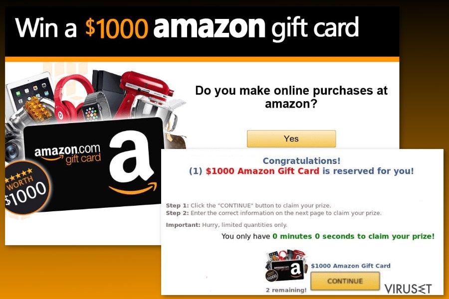 Eksempel på Amazon-gavekortvirus