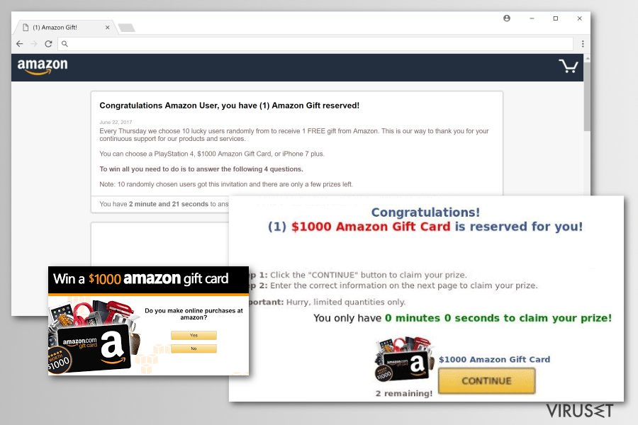Malware-versjoner av Amazon Rewards Event