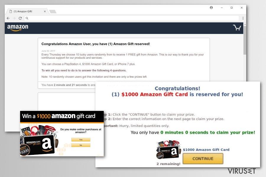Malware-versjoner av Amazon Rewards Event