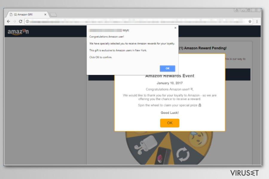 Eksempel på Amazon Rewards Event