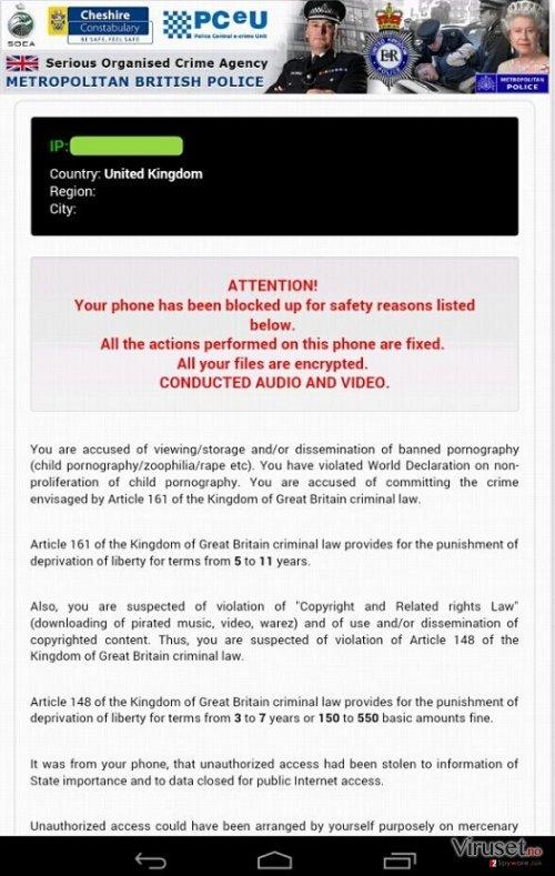 Android Police-virus skjermbilde