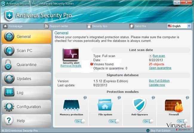 Antivirus Security Pro skjermbilde