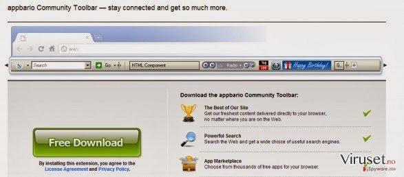 Appbario toolbar skjermbilde