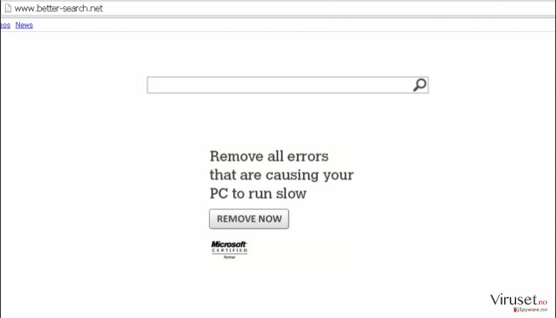 Better-Search.net virus skjermbilde