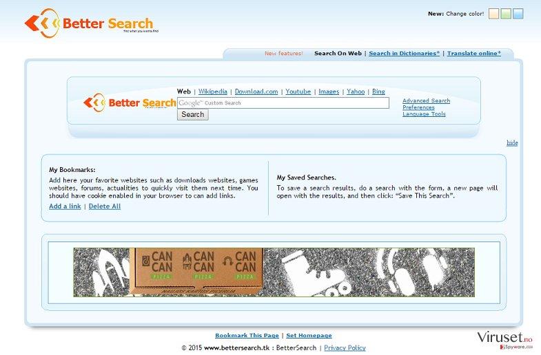 Bettersearch.tk skjermbilde