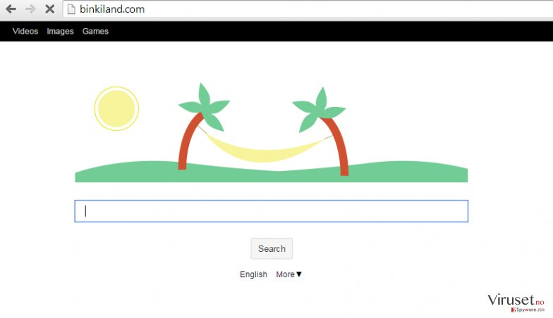 Binkiland.com-virus skjermbilde