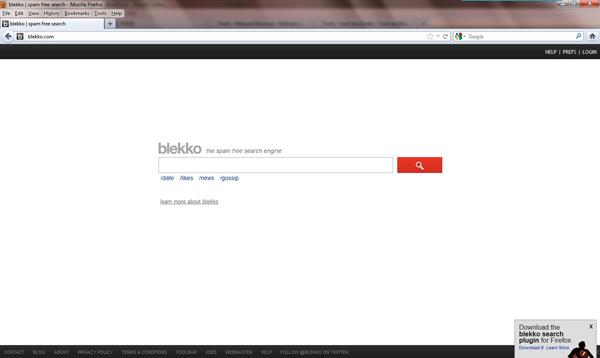 Blekko Virus skjermbilde