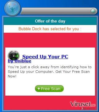 Popup-annonser skjermbilde