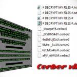 Cerber-virus skjermbilde