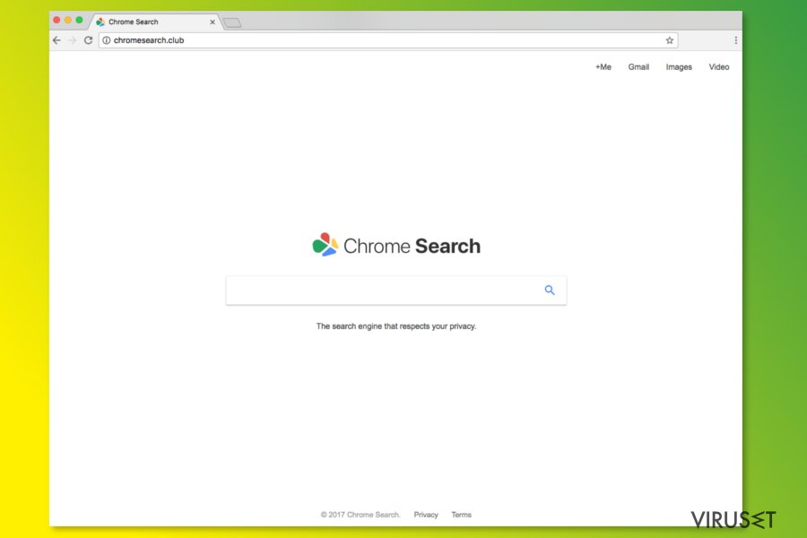 ChromeSearch.club hjemmeside