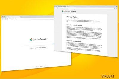 Illustrasjon av Chromesearch-win-viruset