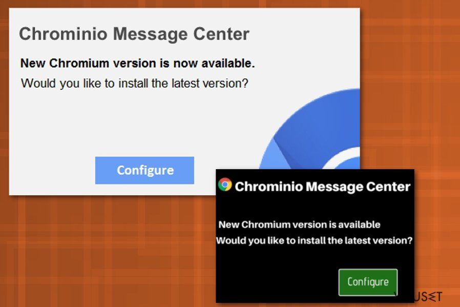 Chrominio Message Center-virus
