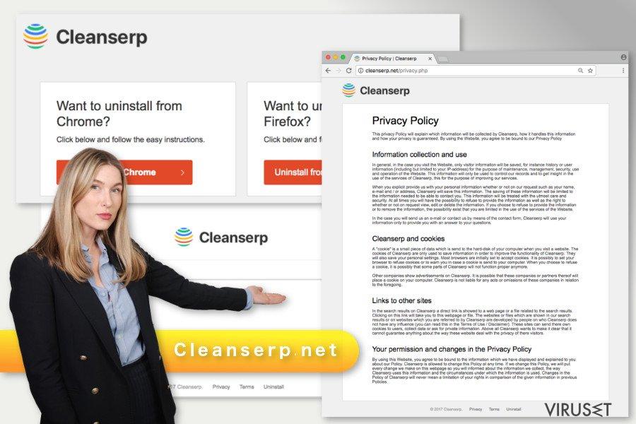 Illustrasjon av Cleanserp.net-viruset