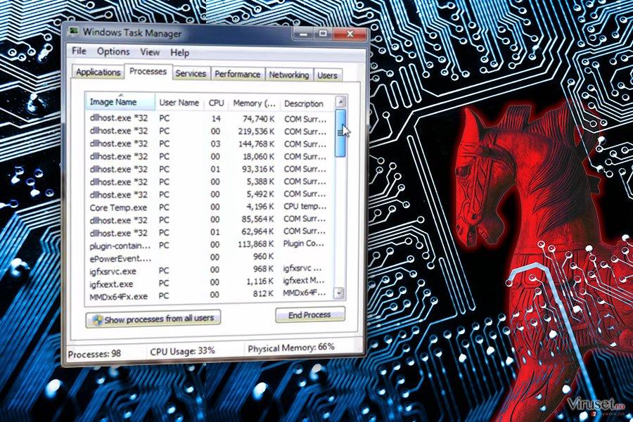 COM surrogate-virus skjermbilde