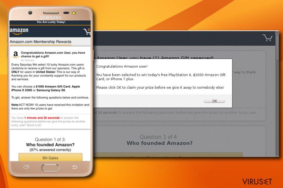 """Congratulations Amazon User""-svindel"