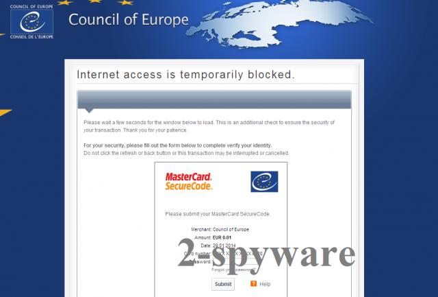 Council of Europe virus skjermbilde