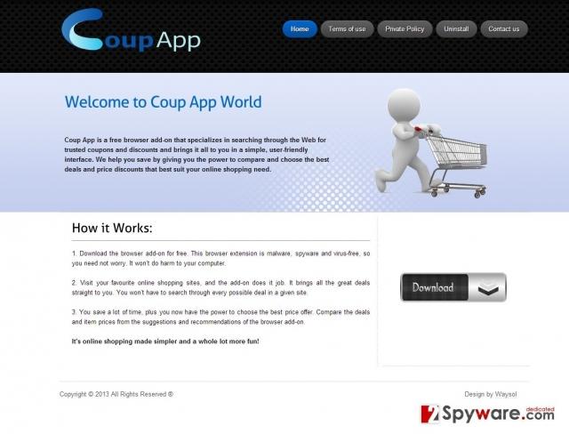 Coup App-annonser skjermbilde