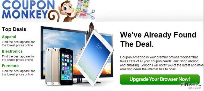 Coupon Monkey ads skjermbilde