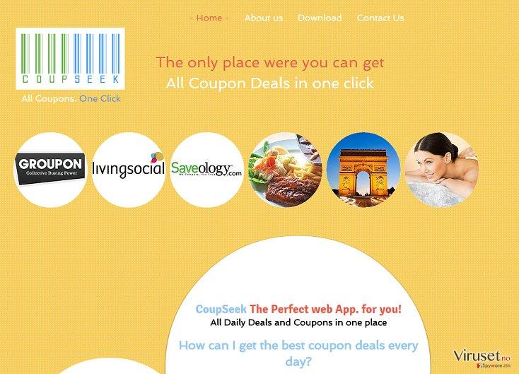 Annonser fra CoupSeek skjermbilde