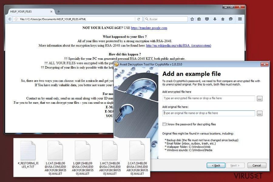 Et Bilde av CryptoMix virus