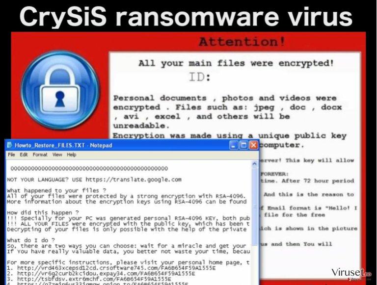 CrySiS ransomwarevirus skjermbilde