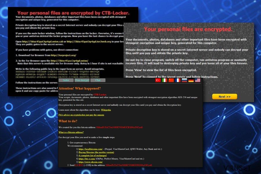 CTB Locker viruset skjermbilde