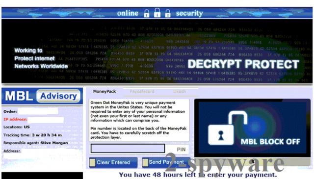 Decrypt Protect viruset skjermbilde