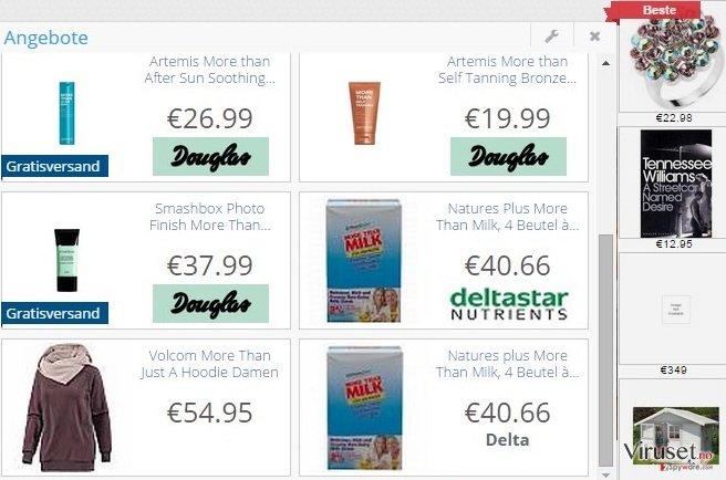 DelightfulDeals adware skjermbilde
