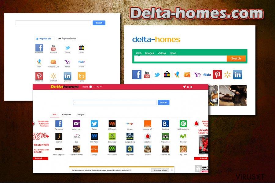 Delta-homes.com skjermbilde