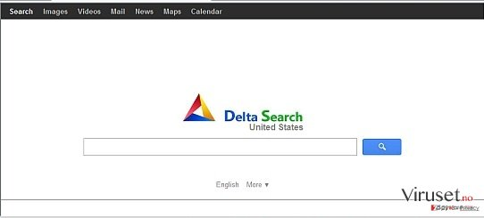 Delta-search.com redirect skjermbilde