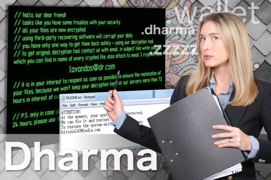 Bilde av Dharma ransomware